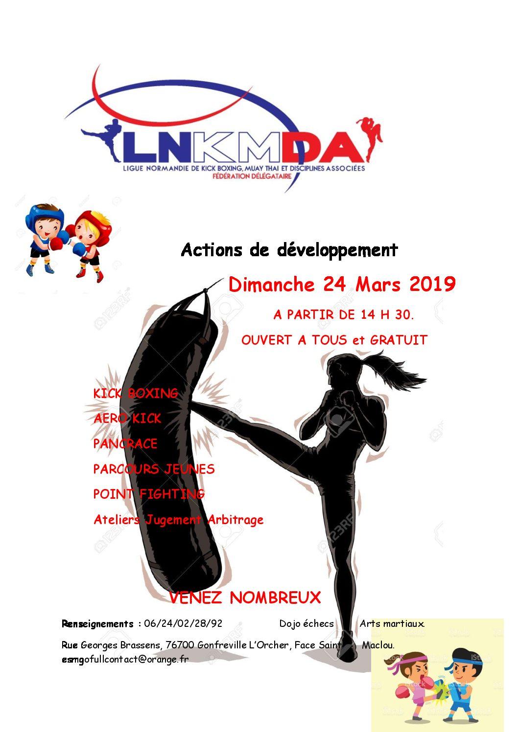 Actions de développement dimanche 24 mars après-midi à Gonfreville L'Orcher – Ouvert à tous et gratuit !